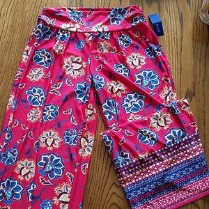 Stretch wide leg pull on hippy chic pants